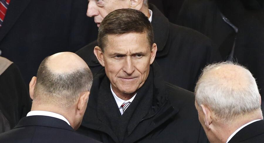 En gruppe ledet af Michael Flynn (billedet), der er præsidentens nationale sikkerhedsrådgiver, ønsker ifølge kilder at føje Det Muslimske Broderskab til USA's liste over udenlandske terrororganisationer (arkivfoto). Reuters/Lucas Jackson