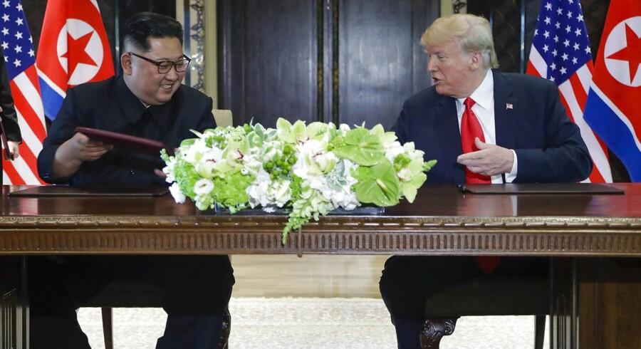 Oven på de første meldinger fra mødet peger både europæiske og amerikanske aktiefutures mod små stigninger, og det kan dermed indikere, at der er lagt op til en generelt positiv stemning herhjemme fra tirsdagens åbning.(AP Photo/Evan Vucci)