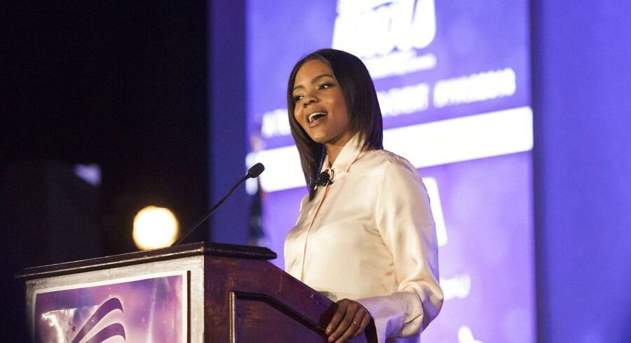 Candace Owens taler til Young Womens Leadership i Dallas, Texa juni 2018.