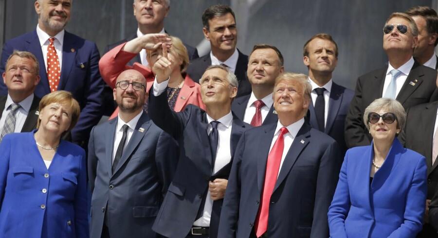 Nato-lande bekræfter i erklæring hinanden i, at angreb på et land er angreb på alle.
