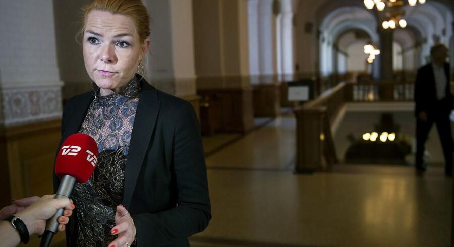 Udlændinge- og integrationsminister Inger Støjberg (V). (Foto: Liselotte Sabroe/Scanpix 2016)