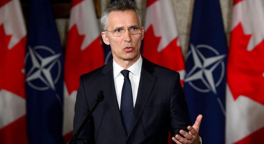 NATO støtter fuldt ud det koordinerede angreb mod det syriske regime natten til lørdag, siger NATOs generalsekretær Jens Stoltenberg.