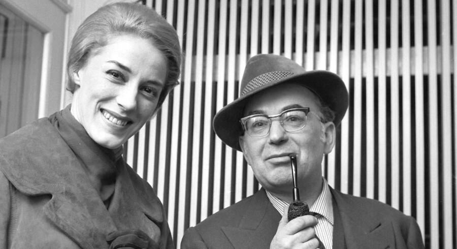 Balletmester Harald Alfred Bernhardt Stevnsborg Lander, som han hed, med sin anden hustru, solodanserinde Toni Lander.