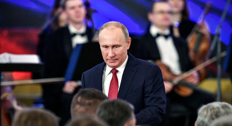 Ruslands præsident Vladimir Putin har ingen problemer med investorer. De står i kø. REUTERS/Alexander Nemenov/Pool