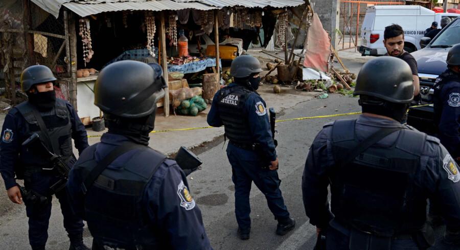 Sidste år blev der registreret rekordmange 25.339 drab i Mexico. Scanpix/Francisco Robles/arkiv