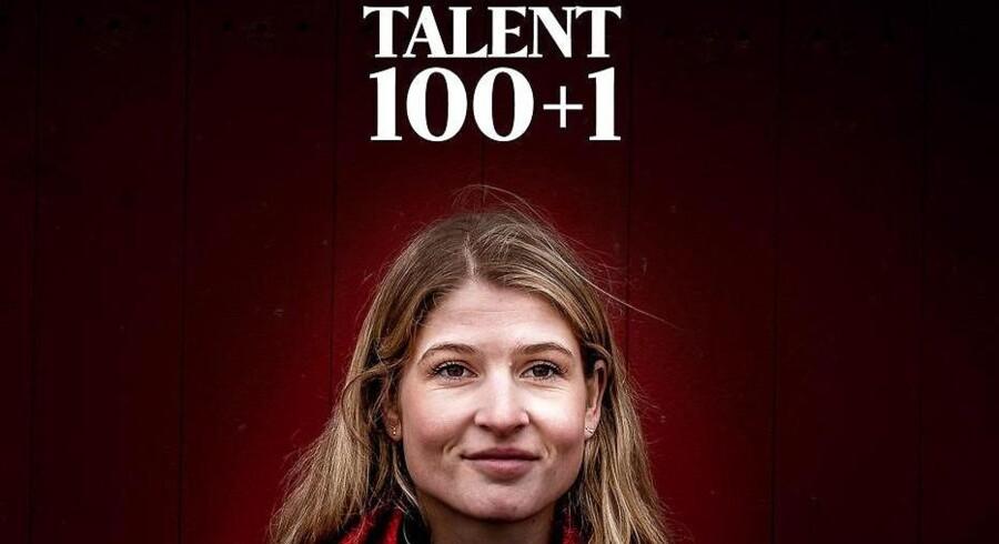 Talent100 forside 2018 Berlingske Business Magasin. På forsiden ses Holbæks borgmester, Christina Krzyrosiak Hansen (S)