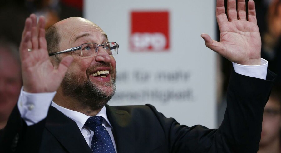 Den tyske socialdemokrat Martin Schulz flyver højt i aktuelle meningsmålinger.