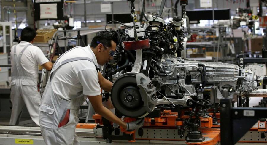 Danske virksomheder sælger rigtigt meget til tyske bilproducenter, så en amerikansk ekstratold på europæiske biler kan få konsekvenser herhjemme. Arkivfoto: Henry Romero, Reuters/Scanpix