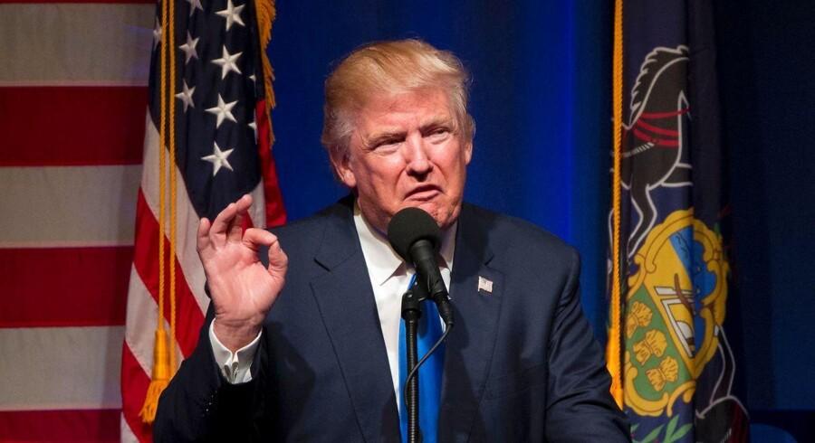 Donald Trump taler ved et vælgermøder på Lackawanna College i Scranton, Pennsylvania, 7. november.