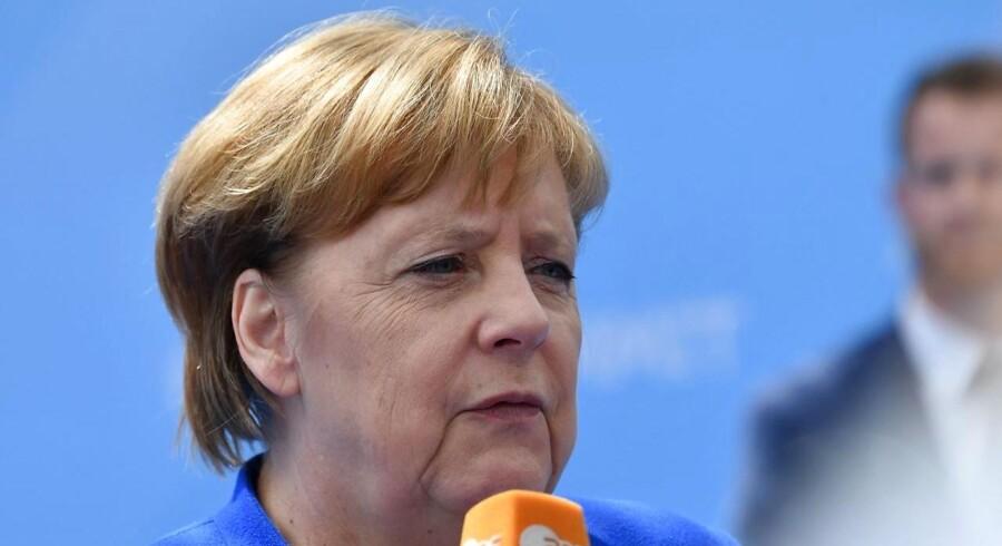 Angela Merkel ankom til NATO-topmødet i Bruxelles idag, onsdag den. 11. juli 2018. / AFP PHOTO / Denis Charlet