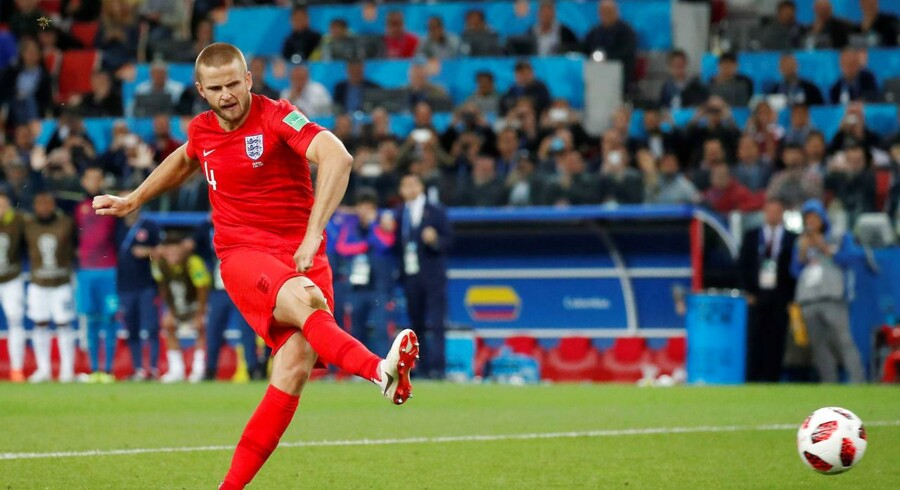 Soccer Football - World Cup - Round of 16 - Colombia vs England - Spartak Stadium, Moscow, Russia - July 3, 2018 England's Eric Dier scores a penalty during the shootout REUTERS/Maxim Shemetov