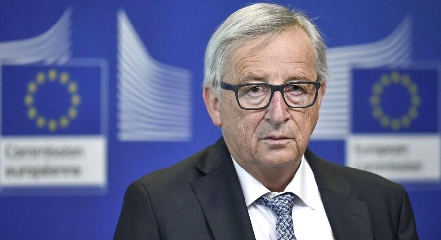 EU er klar med et modsvar til amerikansk straftold, lyder det fra Jean Claude Juncker 31. maj 2018. Arkivfoto: AFP PHOTO / JOHN THYS / Ritzau Scanpix