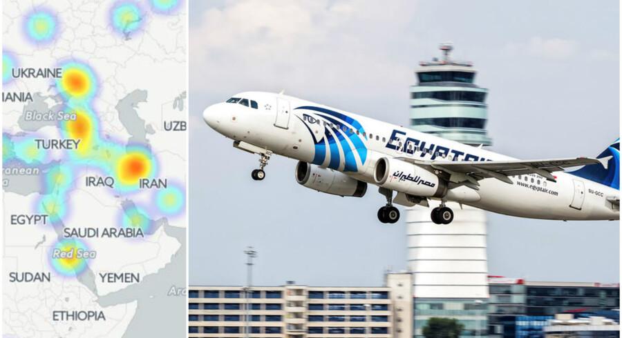 Fly MS804 var på vej fra Paris til Kairo, da det forsvandt.