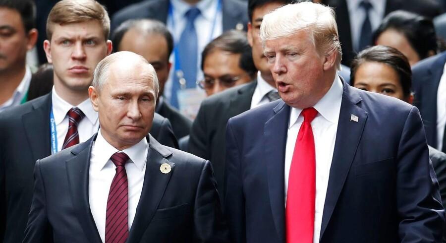 Et muligt topmøde mellem Putin og Trump er ikke bekræftet af USA.