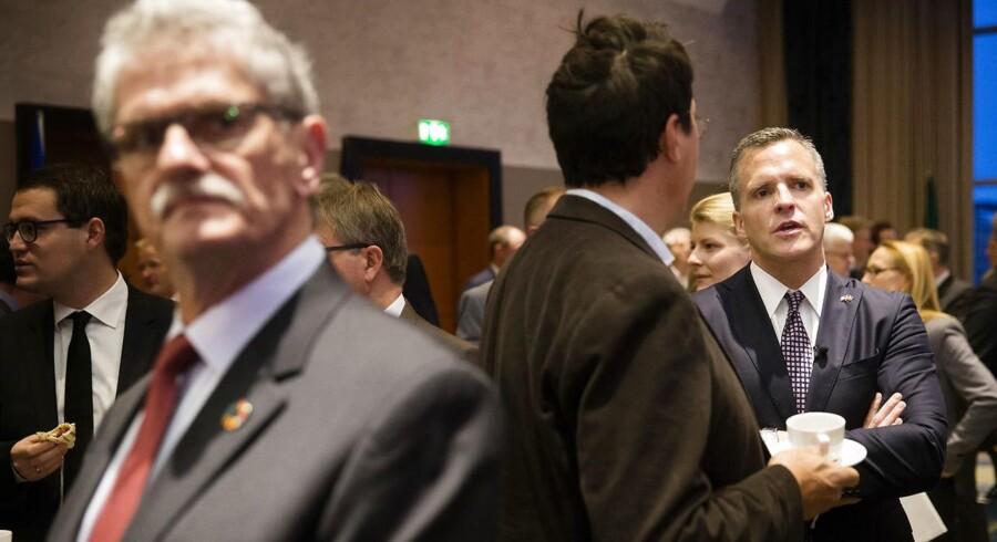 Rufus Gifford og Mogens Lykketoft var begge til amerikansk valgmorgenmad på Hotel Marriott i København onsdag morgen, hvor Donald Trump blev valgt til USA's næste præsident.