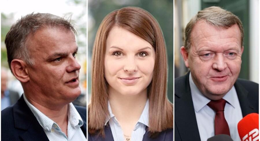 Christian Langballe (DF), Mette Abildgaard (K) og statsminister Lars Løkke Rasmussen (V) har blandet sig i debatten. Fotos: Scanpix