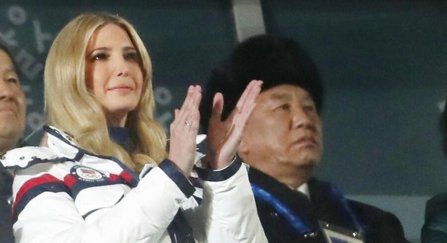 Pyeongchang 2018, Vinterlege i Sydkorea. Ivanka Trump og Kim Yong Chol fra den nordkoreanske delegation deltager i afslutningsceremonien. REUTERS/Lucy Nicholson TPX IMAGES OF THE DAY