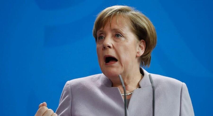 Arkivfoto af den tyske kansler Angela Merkel.