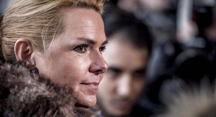 Arkivfoto: Udlændinge- og integrationsminister Inger Støjberg (V) besøgte i januar Ali Parnians bageri i Tingbjerg i København.
