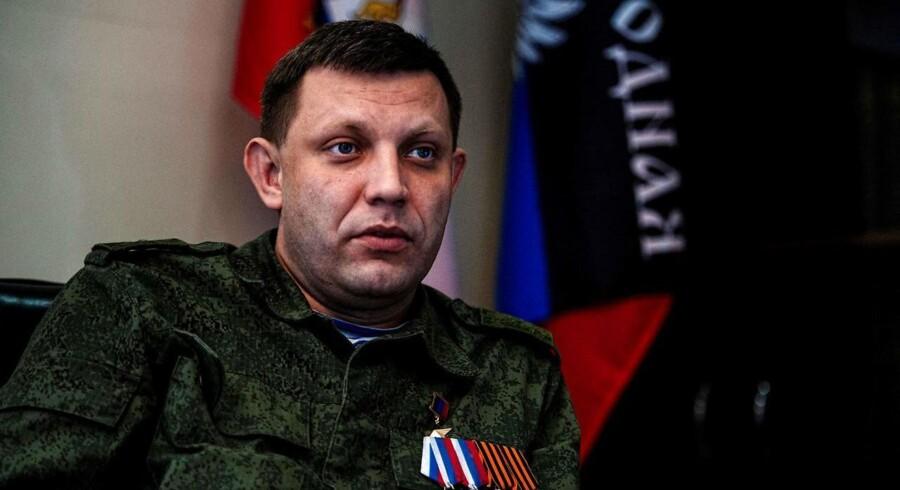 Alexander Zakharchenko, lederen af den selverklærede republik i Donetsk.