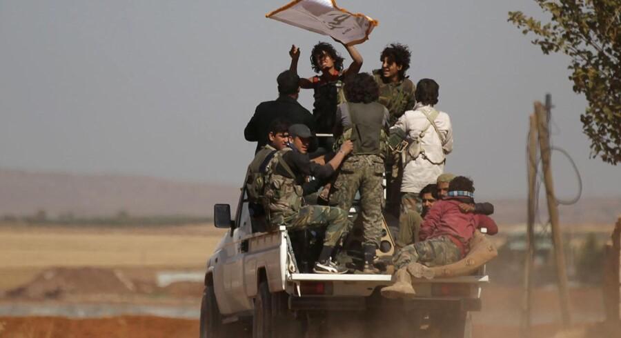 Harakat Nour al-Din al-Zenki-gruppen er en af de jihadist-grupper, der ifølge BBC har modtaget danske donationer gennem organisationen Free Syrian Police. REUTERS/Khalil Ashawi