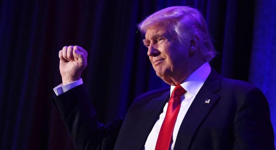 Donald Trump modtages som USAs nye præsident onsdag morgen, dansk tid.