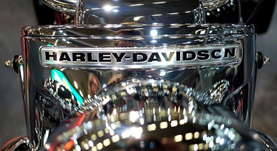 Harley Davidson-motorcykler bliver snart dyrere i Europa, når EU-landene indfører ekstratold på dem som modtræk til USAs ekstratold på europæiske varer. Arkivfoto: Patrik Stollarz, Scanpix
