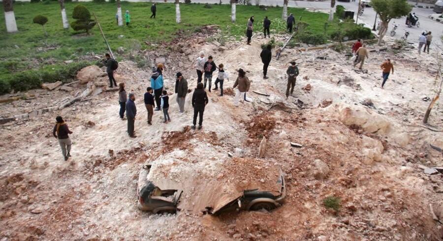 Billede fra Idlib, Syrien.
