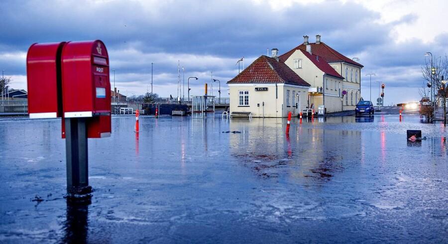 Stormflod i Stege. 5. januar 2017.