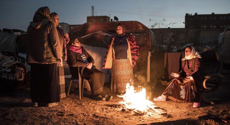Billedet her er fra en såkaldt romalejr i Malmø.