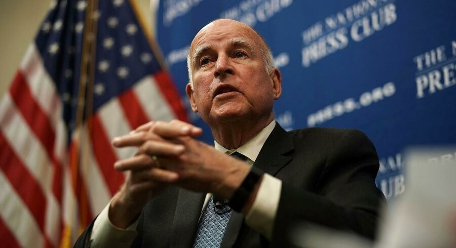 Californiens demokratiske guvernør, Jerry Brown, underskrev torsdag de nye stramninger af databeskyttelsen, som der er total, politisk enighed om. Arkivfoto: Alex Wong, Getty Images/AFP/Scanpix