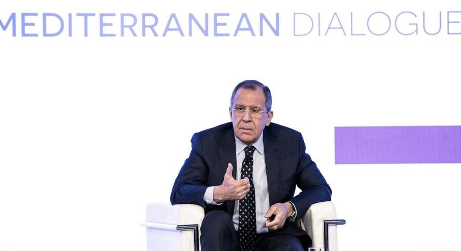Arkivfoto: Ruslands udenrigsminister, Sergej Lavrov, siger under et møde med sin amerikanske kollega, Rex Tillerson, at det er vigtigt, at USA ikke gennemfører et nyt angreb på Syrien.