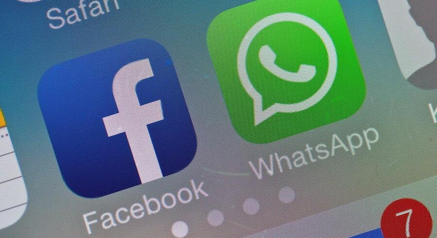Facebook købte i 2014 kommunikationstjenesten WhatsApp for 117 milliarder kroner. (Foto: Patrick Pleul / EPA / Scanpix)