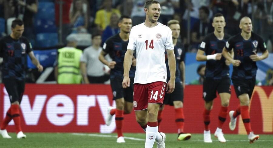 1/8 finale mellem Danmark- Kroatien søndag den 1 juli 2018.