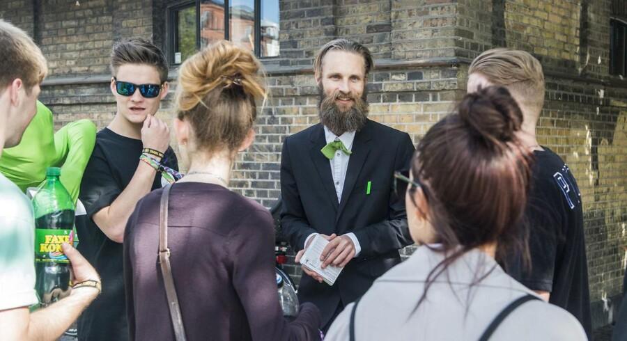 Rolf Bjerre (i midten) er Alternativet i Københavns nye søndagsordfører. (Foto: Sara Gangsted/Scanpix 2015)