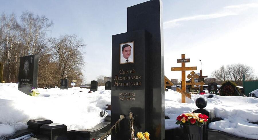 Magnitskijs grav i Rusland. REUTERS/Mikhail Voskresensky.