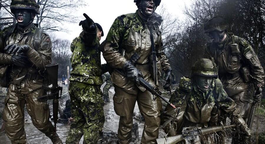 Forsvarsministeren vil sende flere unge danskere i trøjen som følge af truslen fra Rusland. Arkivfoto: Claus Bjørn Larsen