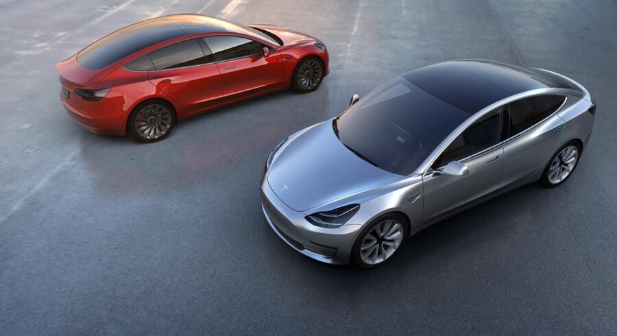 63.000 kunder har afbestilt deres Tesla Model 3. Free/Tesla Motors/arkiv