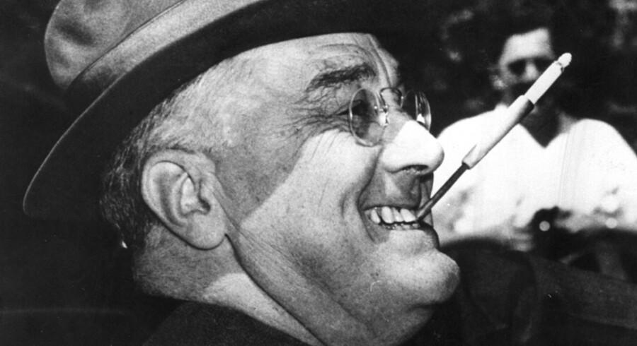 Franklin D. Roosevelt brugte sin State of the Union i 1941 til at udråbe universelle menneskerettigheder som USA''s samlende mål. Kort efter gik USA ind i Anden Verdenskrig. Scanpix/Nf