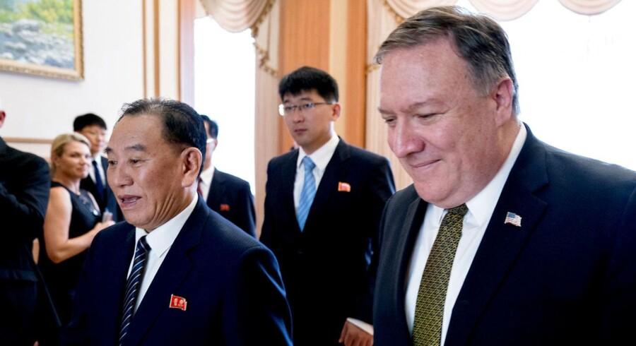 Kim Yong-chol spillede en nøglerolle sammen med Pompeo for at arrangere Trumps møde med Kim i Singapore.