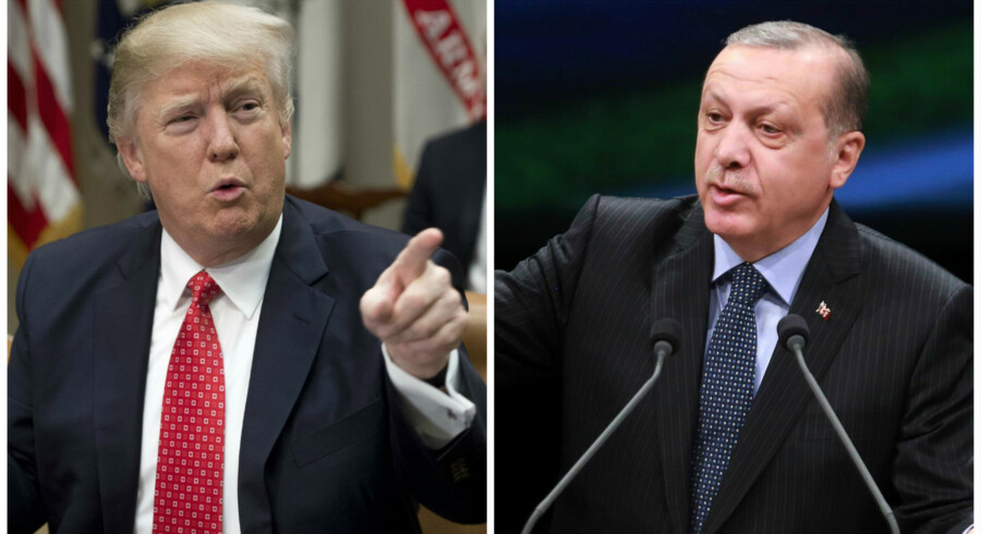 """Donald Trump betegner Tyrkiet som en """"strategisk allieret"""" i en telefonsamtale med præsident Erdogan."""