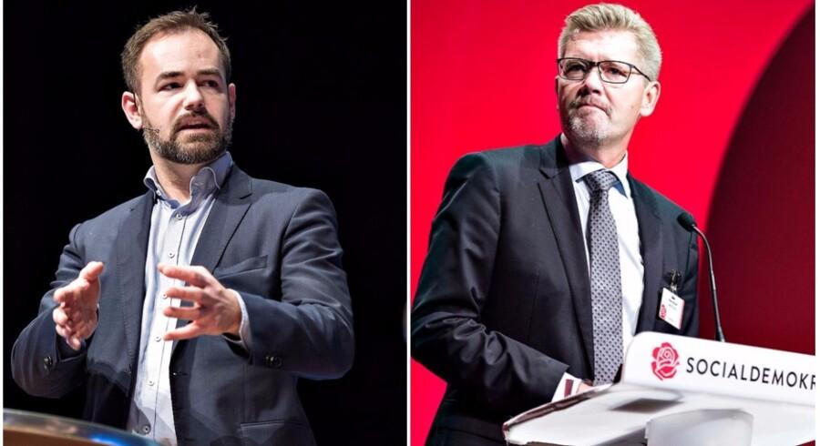 Borgmester i Aarhus Jacob Bundsgaard (S) og overborgmester i København Frank Jensen (S) præsenterer et fælles integrationsudspil, der skal sikre, at tosprogede børn tidligt bliver en del af samfundet.