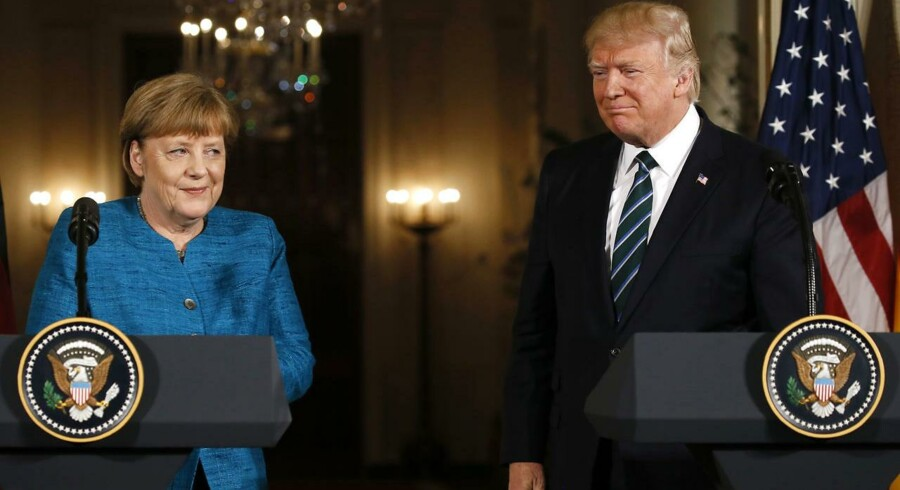 Angela Merkel og Donald Trump.
