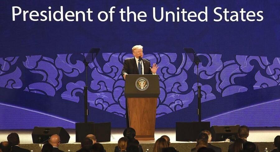 Arkivfoto. Donald Trump er ankommet til Apec-topmøde i Vietnam, men skal ikke mødes med Vladimir Putin.