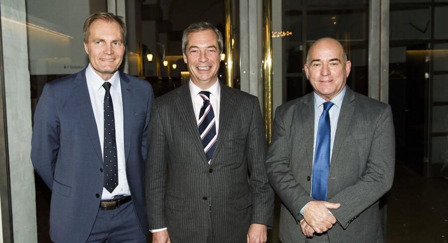 UKIP-leder Nigel Farage fotograferet på Christiansborg onsdag d. 30. november 2016 før et møde med Søren Espersen og Peter Skaarup.