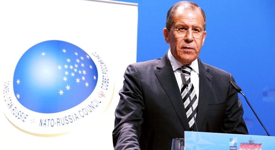 Sergej Lavrov, den russiske udenrigsminister. Her fra 2011.