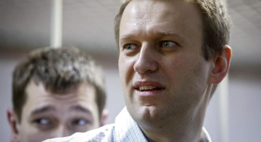 Navalnij vil stille op til præsidentembedet i 2018. Han blev anholdt under en protest mod korruption i landet i marts. Her sad han fængslet i to uger.
