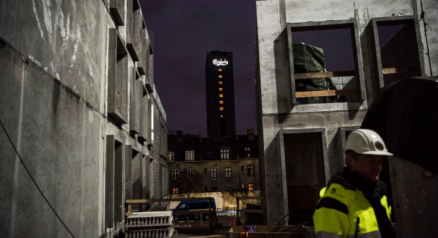 Projektsalg har været en lukrativ forretning de senere år. Her ses byggeri under opførelse i den nye bydel Carlsberg Byen i København.