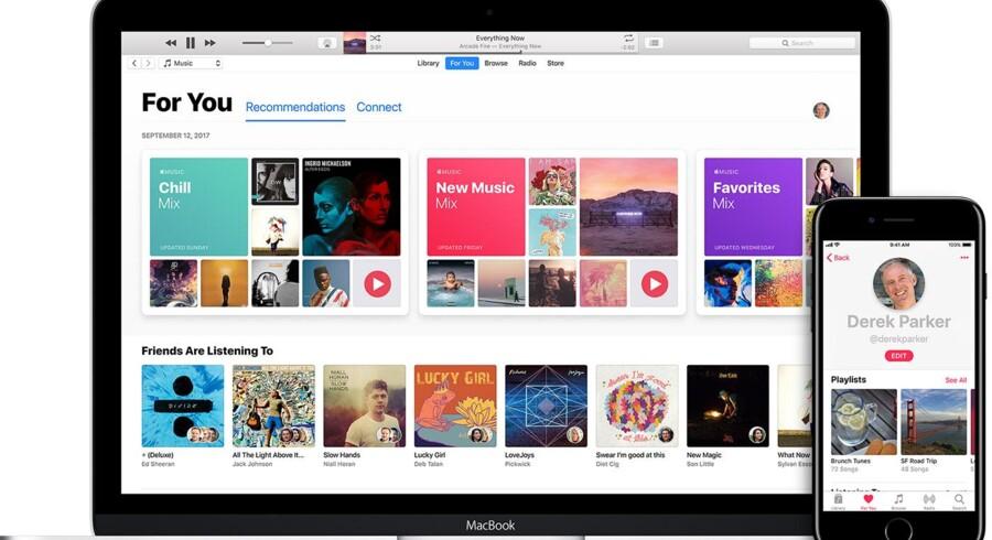 Apple Music skal styrkes gennem opkøbet af musikgenkendelsestjenesten Shazam. Foto. Apple