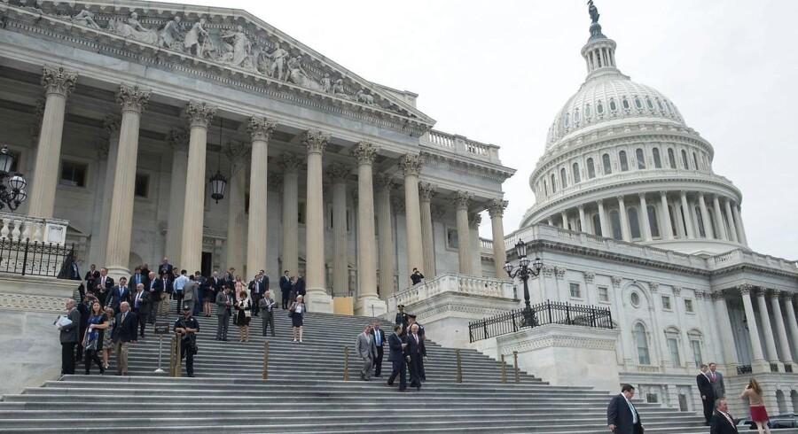 Arkivfoto. Kongressen i USA har godkendt et forslag om et midlertidigt budget, der skal sikre betalingen af de offentlige udgifter frem til 8. februar.